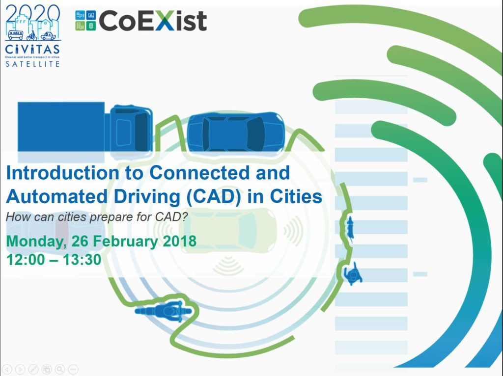 Webinar – Connected and Automated Driving (CAD) in Cities
