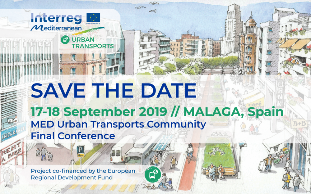 Participate to the Final Conference of the MED Urban Transports Community in Malaga (17-18 September 2019)