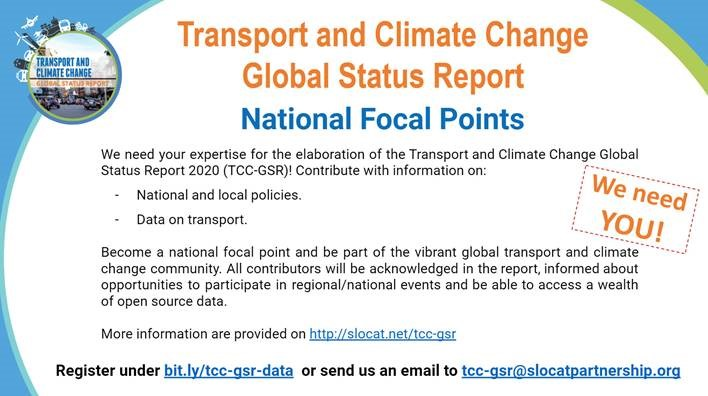 SLoCaT: National Focal Points volunteers wanted in Europe