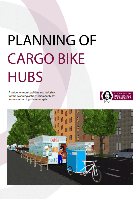 How to plan cargo bikes hubs for urban logistics?