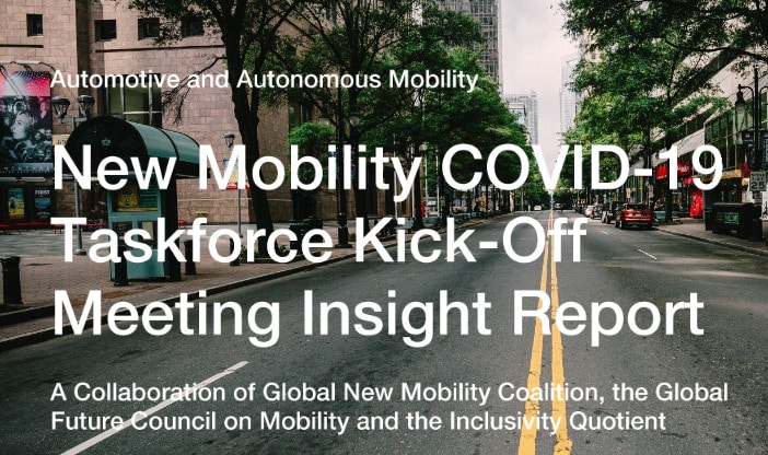 New Mobility COVID-19 Taskforce kick-off meeting insight report