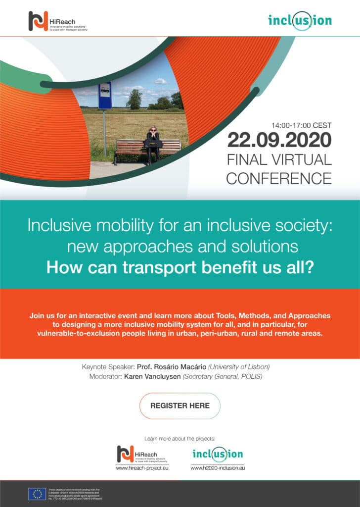 Inclusive mobility for an inclusive society: new approaches and solutions – 22 September 2020