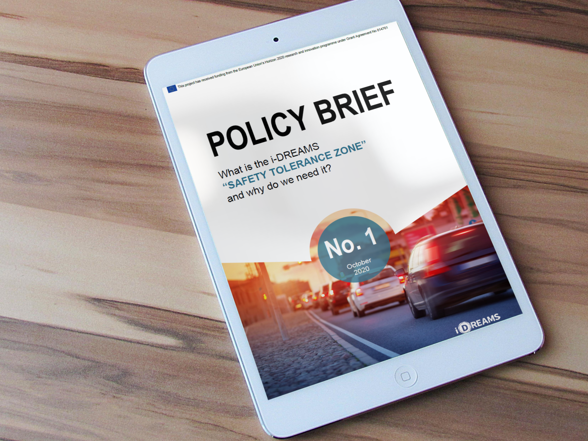 "i-DREAMS launches first Policy Brief by POLIS on ""Safety Tolerance Zone"""