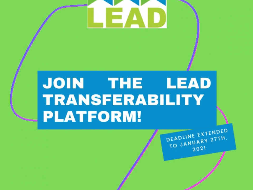 New deadline: join the LEAD Transferability Platform!