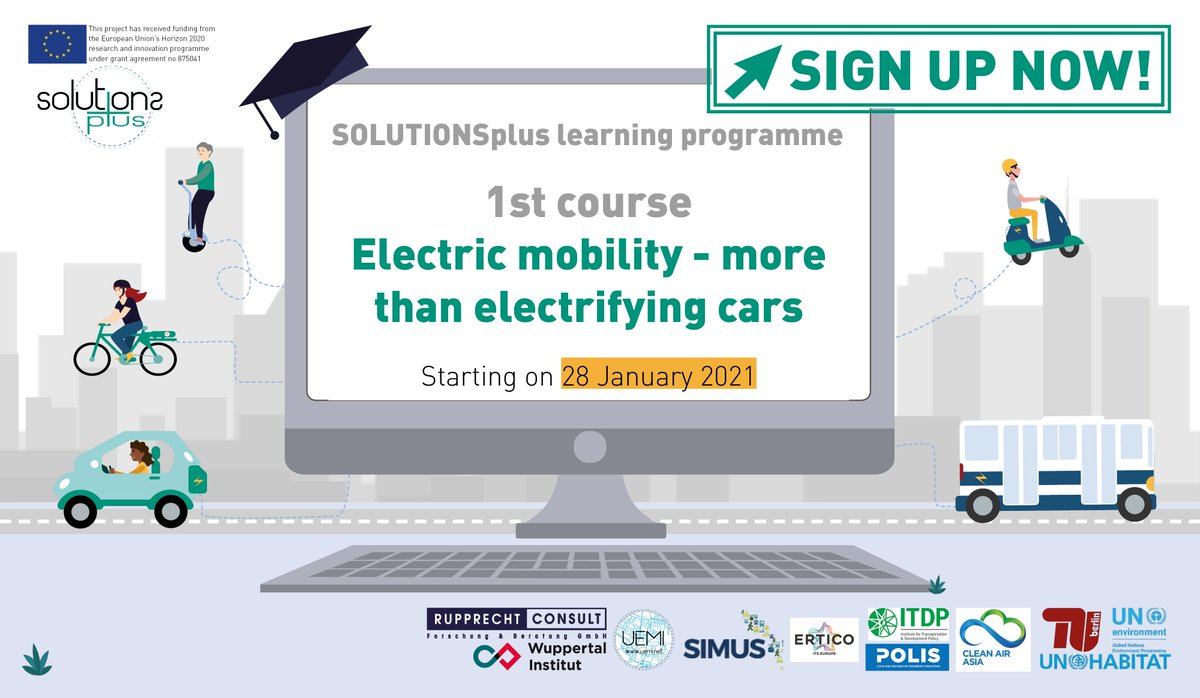 Registration open for SOLUTIONSplus global learning programme on electric mobility