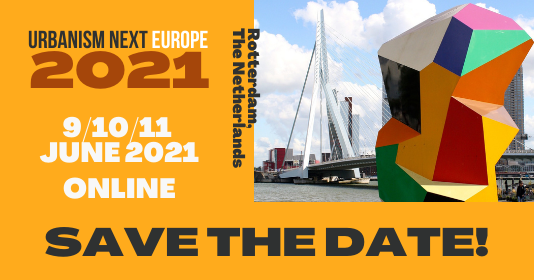 Urbanism Next Europe 2021 will be held online on June 2021!