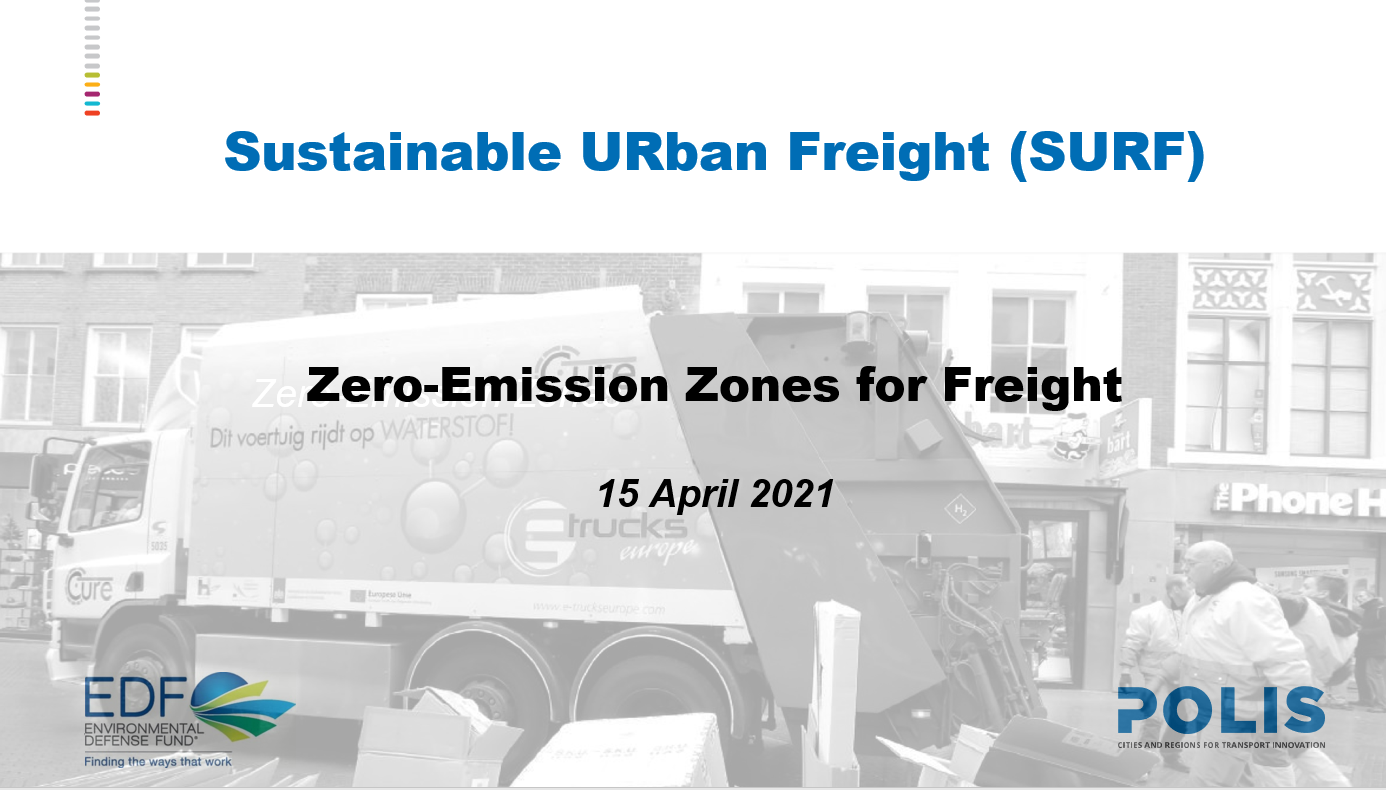 Launch event of SURF, the new project on Sustainable URban Freight