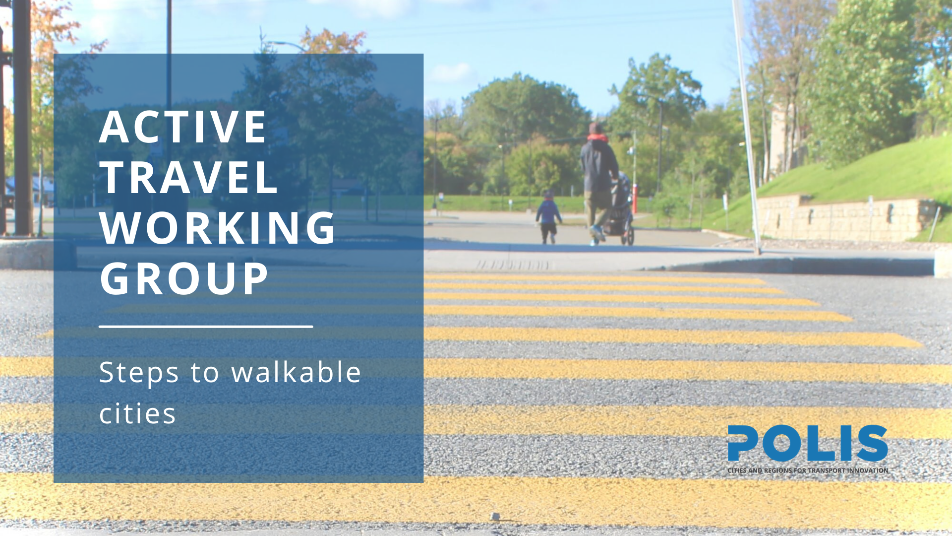 Active Travel Working Group meeting: Steps to Walkable Cities