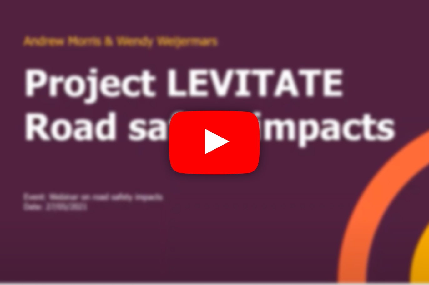 Watch the LEVITATE webinar on road safety assessment of CATS